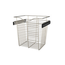 Rev-A-Shelf CB-181418SN-1 18 in Satin Nickel Closet Pullout Basket