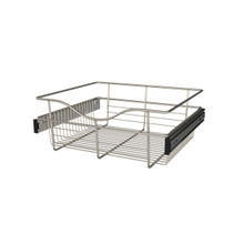 Rev-A-Shelf CB-181607SN-1 18 in Satin Nickel Closet Pullout Basket