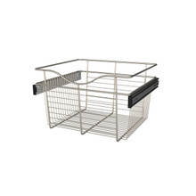Rev-A-Shelf CB-181611SN-1 18 in Satin Nickel Closet Pullout Basket