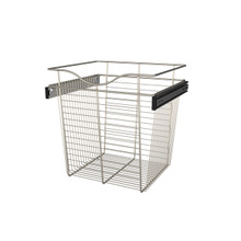 Rev-A-Shelf CB-181618SN-1 18 in Satin Nickel Closet Pullout Basket