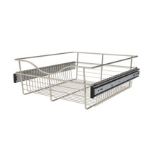 Rev-A-Shelf CB-182007SN-1 18 in Satin Nickel Closet Pullout Basket