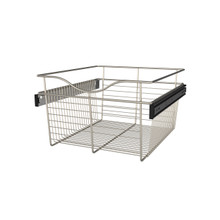 Rev-A-Shelf CB-182011SN-1 18 in Satin Nickel Closet Pullout Basket