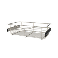 Rev-A-Shelf CB-241407SN-1 24 in Satin Nickel Closet Pullout Basket