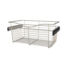 Rev-A-Shelf CB-241411SN-1 24 in Satin Nickel Closet Pullout Basket