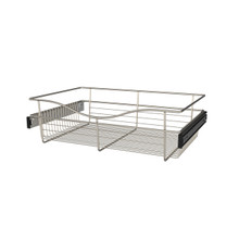 Rev-A-Shelf CB-241607SN-1 24 in Satin Nickel Closet Pullout Basket