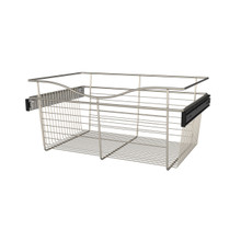 Rev-A-Shelf CB-241611SN-1 24 in Satin Nickel Closet Pullout Basket