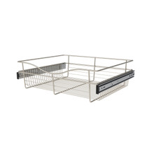 Rev-A-Shelf CB-242007SN-1 24 in Satin Nickel Closet Pullout Basket