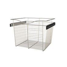 Rev-A-Shelf CB-242018SN-1 24 in Satin Nickel Closet Pullout Basket