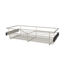 Rev-A-Shelf CB-301407SN-1 30 in Satin Nickel Closet Pullout Basket
