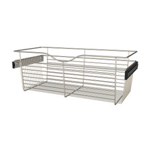 Rev-A-Shelf CB-301411SN-1 30 in Satin Nickel Closet Pullout Basket