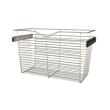 Rev-A-Shelf CB-301418SN-1 30 in Satin Nickel Closet Pullout Basket