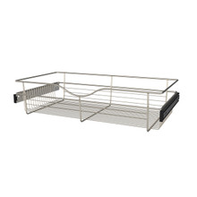 Rev-A-Shelf CB-301607SN-1 30 in Satin Nickel Closet Pullout Basket