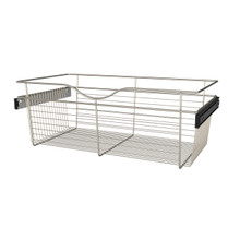 Rev-A-Shelf CB-301611SN-1 30 in Satin Nickel Closet Pullout Basket