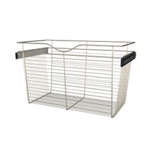 Rev-A-Shelf CB-301618SN-1 30 in Satin Nickel Closet Pullout Basket