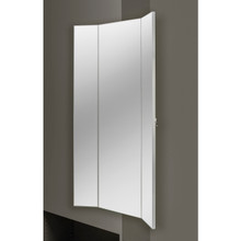 Rev-A-Shelf CMTWSL-1448-SM-1 48 in Tri-Fold Closet Mirror w/Soft-Close - Silver
