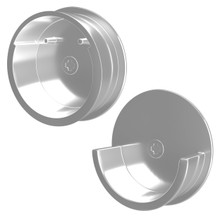 Rev-A-Shelf CRCSL-CR-1 Chrome Closet Rod End Caps Only