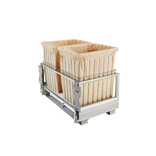 Rev-A-Shelf CH-241419-RM-211 24 in White Wire Bin Hamper, Soft Close