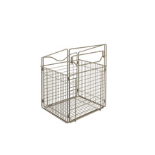 Rev-A-Shelf CTOHB-161319-SN-52 16 in Satin Nickel Tilt Out Hamper Basket