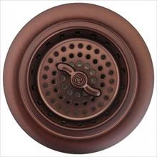 "Linkasink D003 AB Spin and Turn Kitchen Basket Strainer 3 1/4"" - Antique Bronze"