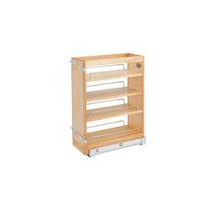 Rev-A-Shelf 448-BC19SC-8C 8 in Wood Vanity Pullout Cabinet Organizer w/Soft-Close - Natural