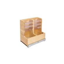 Rev-A-Shelf 441-15VSBSC-1 30 in Wood Vanity Sink Base Storage Organizer - Natural