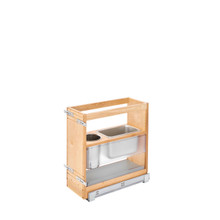 Rev-A-Shelf 445-VCG20SC-8 20 in x 8 in Vanity Grooming Organizer w/ Soft-Close - Natural