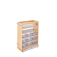 Rev-A-Shelf 448-VC25SC-8 8 in W X 25 in H Wood Vanity Base Organizer w/Soft-Close - Natural