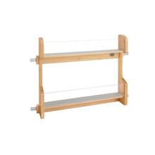 Rev-A-Shelf 4VR-24-1 24 in Vanity Door mount Storage Rack - Natural