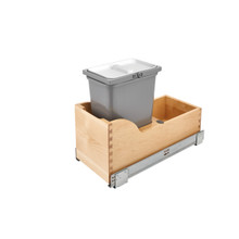 Rev-A-Shelf 4WCSC-128-19-1 Vanity Depth 8L Pull-Out Waste Container - Natural