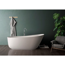 Vanity Art 59 in. Matte Solid Surface Freestanding Bathtub