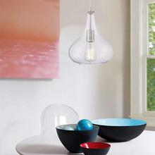 Vanity Art Blois 1-Light Chrome Pendant with Glass Globe Shade