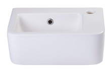 ALFI AB101 Small White Wall Mounted Ceramic Bathroom Sink Basin
