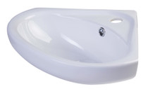 "ALFI AB109 18"" White Corner Porcelain Wall Mounted Bath Sink"