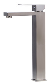 ALFI AB1129-BN Brushed Nickel Tall Square Single Lever Bathroom Faucet