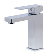 ALFI AB1229-PC Polished Chrome Square Single Lever Bathroom Faucet