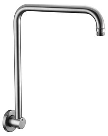 "ALFI AB12GRW-BN Brushed Nickel 12"" Round Raised Wall Mounted Shower Arm"