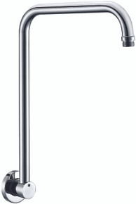 "ALFI AB12GRW-PC Polished Chrome 12"" Round Raised Wall Mounted Shower Arm"