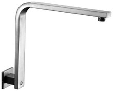 "ALFI AB12GSW-BN Brushed Nickel 12"" Square Raised Wall Mounted Shower Arm"