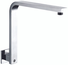 "ALFI AB12GSW-PC Polished Chrome 12"" Square Raised Wall Mounted Shower Arm"