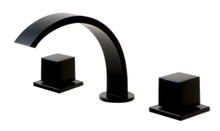 ALFI Black Matte Widespread Modern Bathroom Faucet
