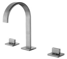 ALFI AB1336-BN Brushed Nickel Gooseneck Widespread Bathroom Faucet