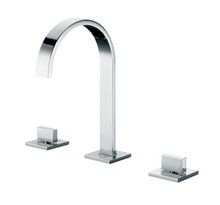 ALFI AB1336-PC Polished Chrome Gooseneck Widespread Bathroom Faucet