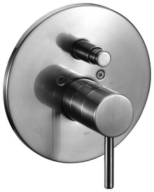 ALFI AB1701-BN Brushed Nickel Pressure Balanced Round Shower Mixer with Diverter