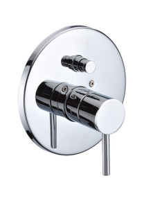 ALFI AB1701-PC Polished Chrome Pressure Balanced Round Shower Mixer with Diverter