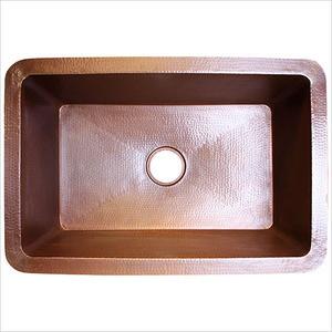 Linkasink C010 Ss Copper Undermount Kitchen Sink 30 X 20 X 10 Hammered Stainless Steel