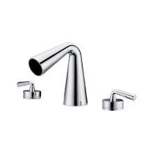 ALFI AB1790-PC Polished Chrome Widespread Cone Waterfall Bathroom Faucet