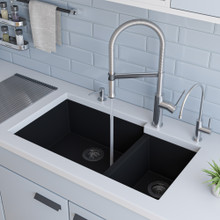 ALFI AB2015 Brushed Gooseneck Single Hole Faucet