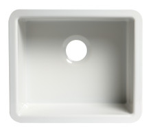 "ALFI AB2017 20"" White Single Bowl Fireclay Undermount Kitchen Sink"
