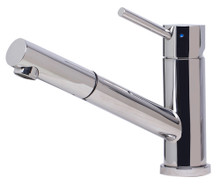 ALFI AB2025-PSS Solid Polished Stainless Steel Pull Out Single Hole Kitchen Faucet