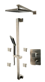 ALFI AB2287-BN Brushed Nickel 3 Way Thermostatic Shower Set with Body Sprays